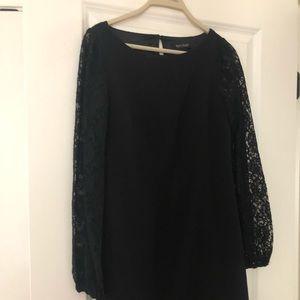 Women's LOFT XS black dress lace sleeves